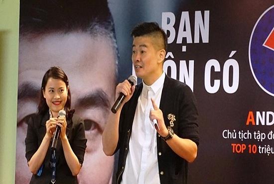 Andy Ong trong một buổi tọa đàm tại HCM