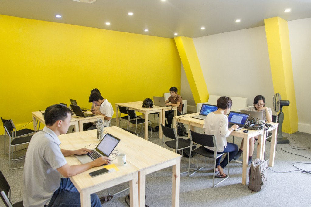 10 co-working ly tuong cho cong dong startup HN 2