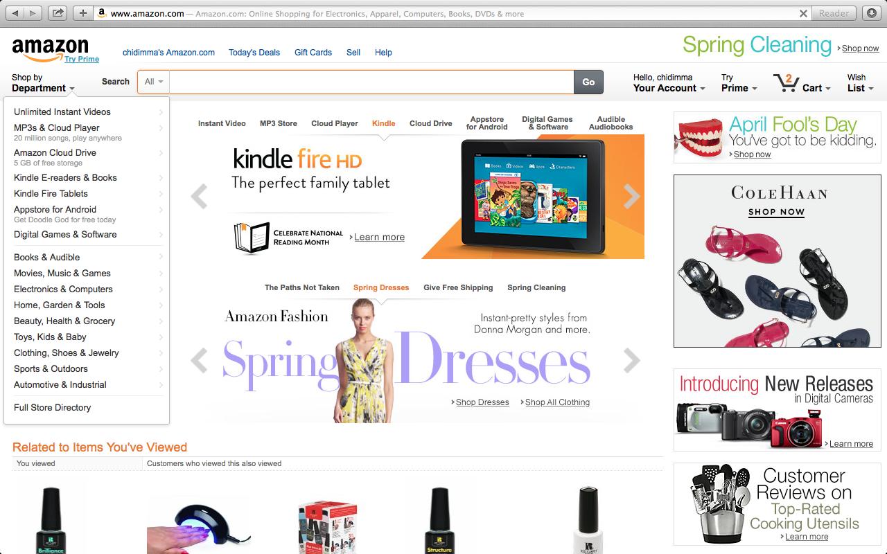 Amazon luôn chú ý quan tâm đến nhu cầu của từng khách hàng