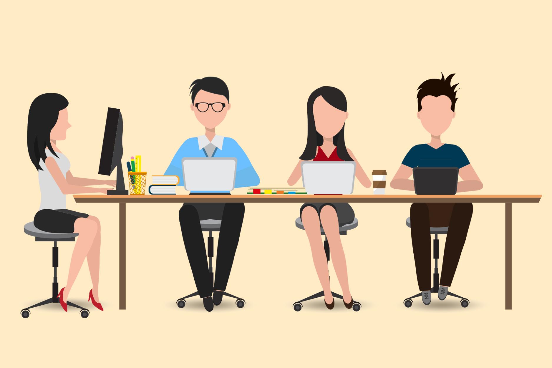 Không gian làm việc chung khiến nhân viên bị phân tâm