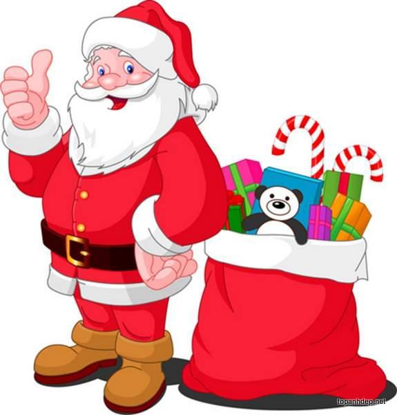Hình ảnh ông già Noel được yêu thích
