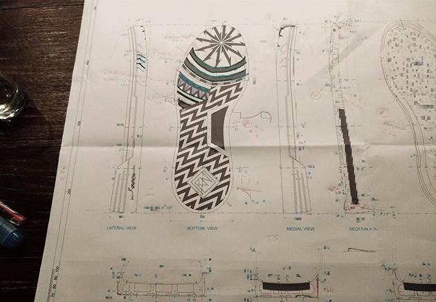 Bản thiết kế chi tiết đế giày