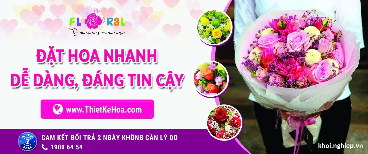 Giao diện website hoa của anh Tuấn