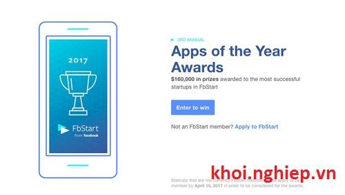 FbStart 2017 khoi dong giai thuong khung