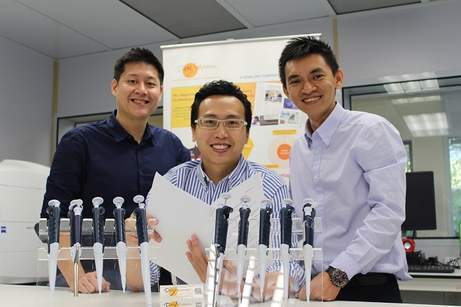Ba chàng trai sáng lập startup DeNova Scieneces. Ảnh: Internet
