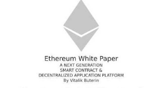 Giao diện sách trắng của Ethereum.