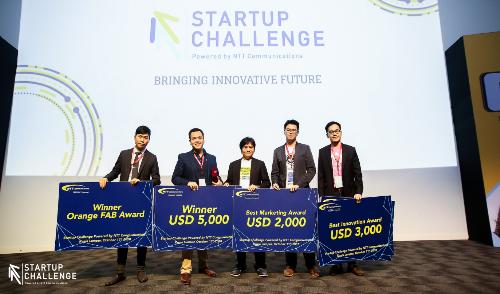 Những startup thắng cuộc trong cuộc thi tại Malaysia tháng 10/2018.