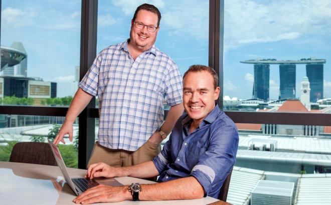 Michael Blakey (trái) và Will Klippgen, hai đồng sáng lập và quản lý đối tác của Cocoon Capital. Ảnh: Cocoon Capital.