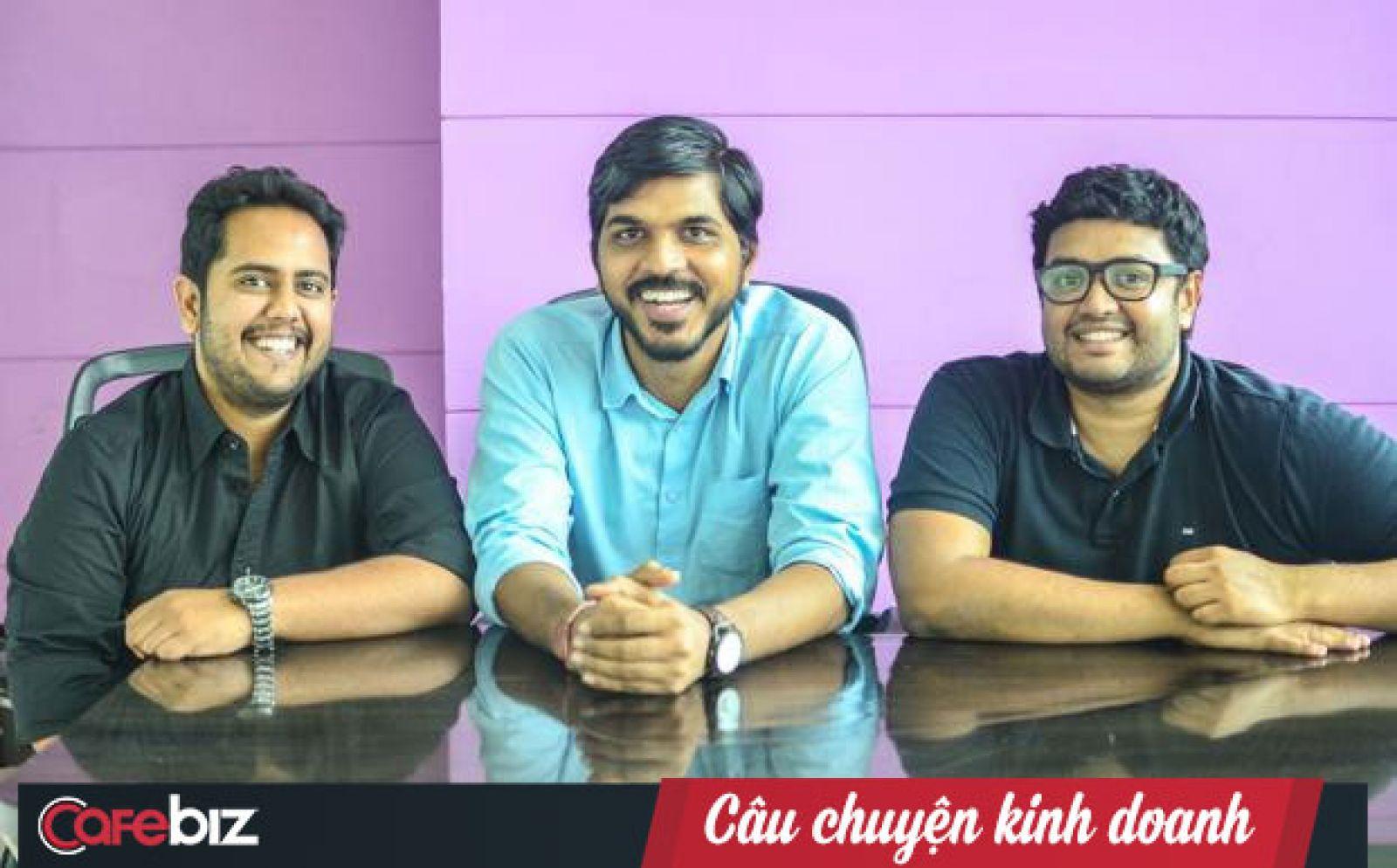 Những người sáng lập Swiggy (từ trái sang) Nandan Reddy, Rahul Jaimini và Sriharsha Majety.