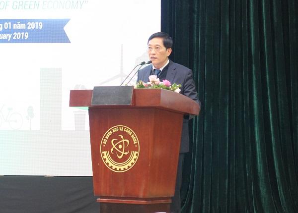 Ông Trần Văn Tùng - Thứ trưởng Bộ Khoa học Công nghệ phát biểu tại hội thảo phát động cuộc thi.