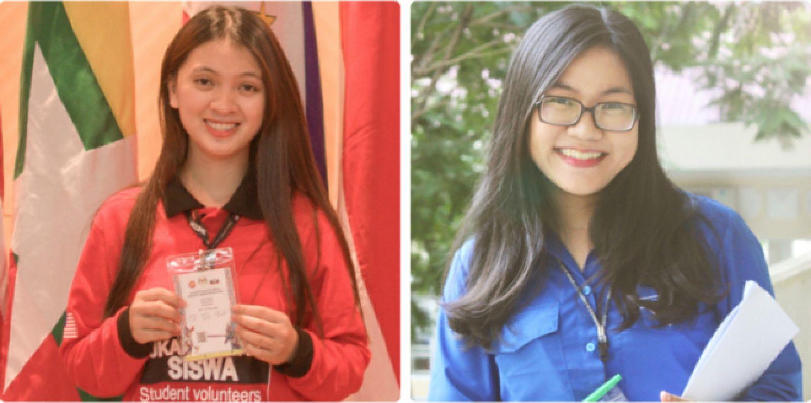 Từ trái qua: Tình và Nhi - hai thành viên của dự án tại Việt Nam. Ảnh: NVCC.