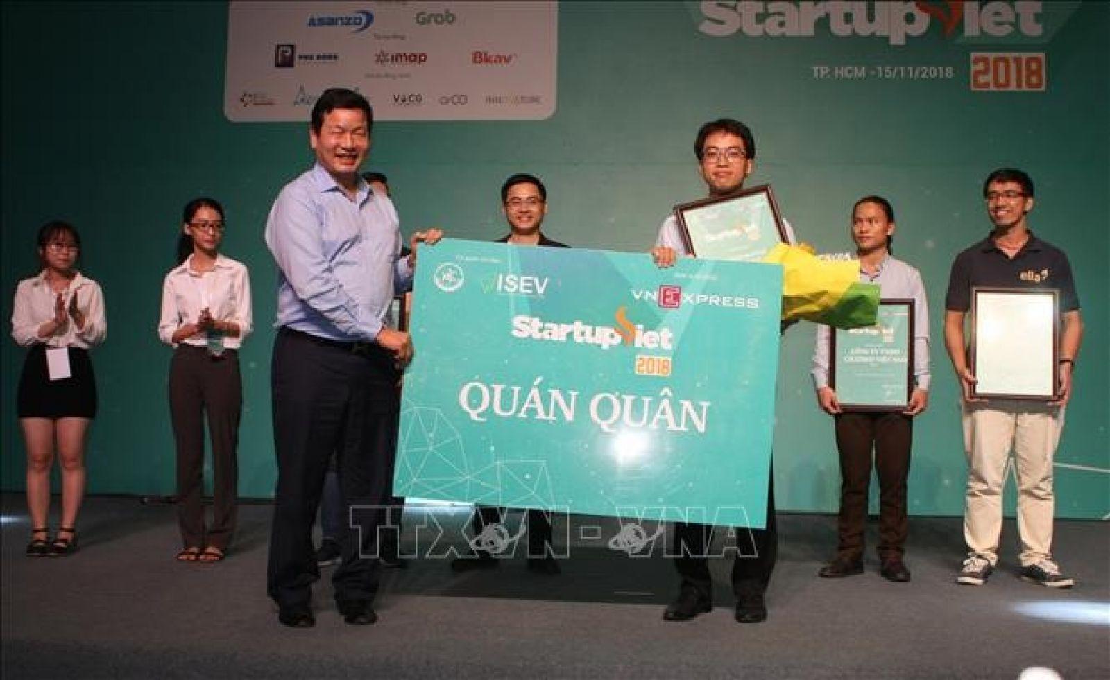 Lễ vinh danh Startup Việt năm 2018 do Báo điện tử VnExpress tổ chức. (Ảnh: VnExpress)
