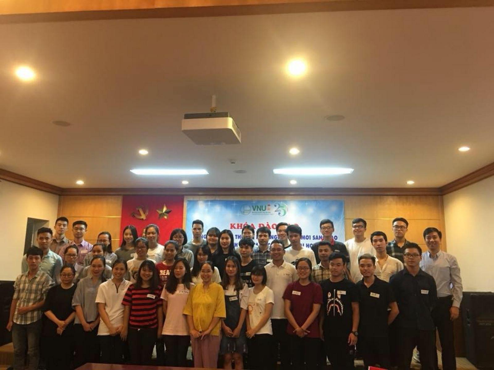 Khóa đào tạo Khởi nghiệp đổi mới sáng tạo cho sinh viên ĐHQG Hà Nội. (Ảnh: ĐHQGHN)