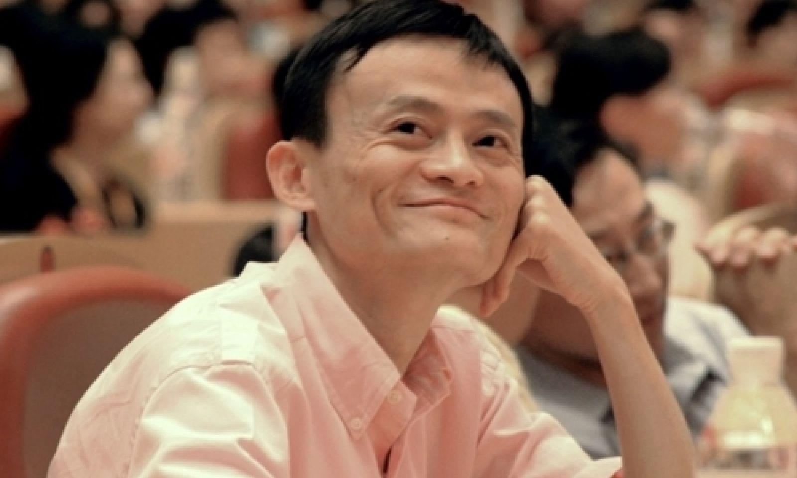 Ông chủ Alibaba - Jack Ma trong một sự kiện tại Trung Quốc. Ảnh: SCMP