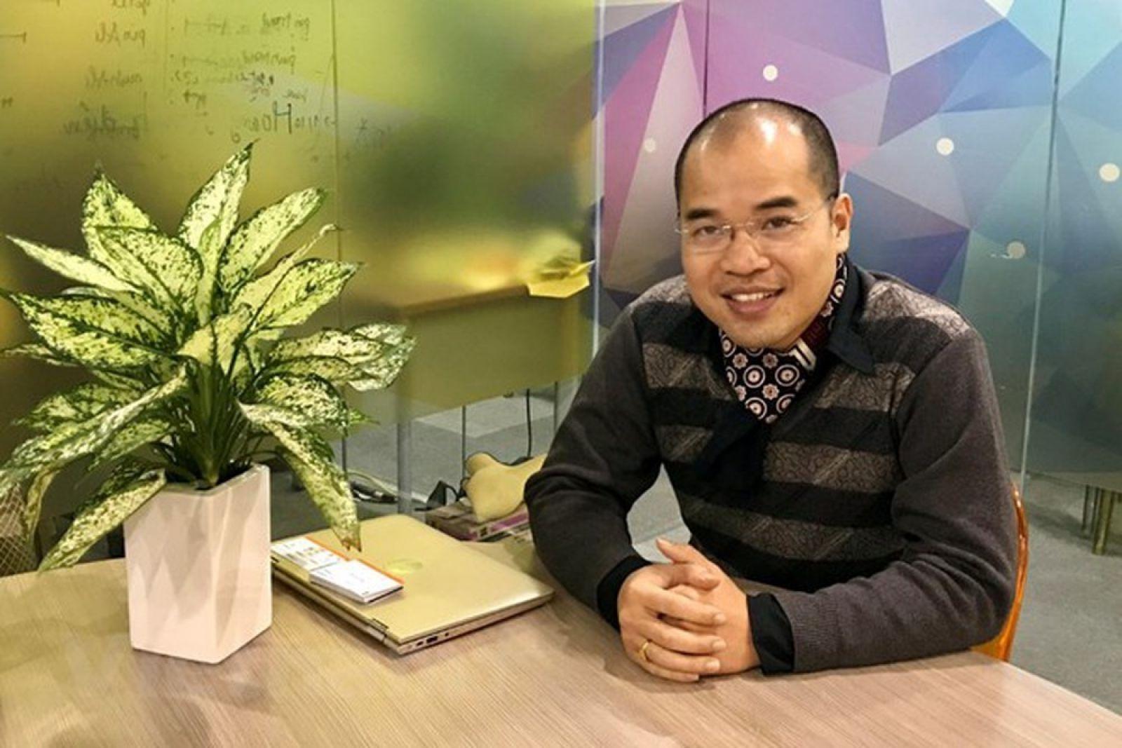 Ông Phạm Tuấn Hiệp - Giám đốc ươm tạo BK-Holdings chia sẻ về quá trình tham gia Đề án 844. (Ảnh: Ánh Tuyết/ Vietnam+)