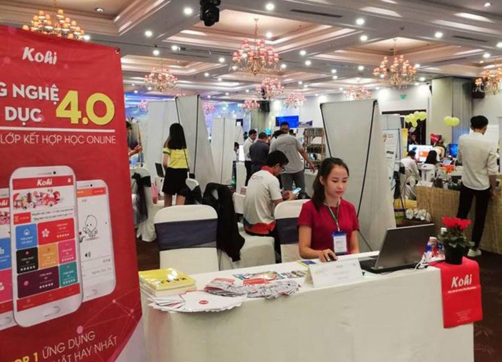 Khu vực gian hàng của 200 startup tham dự Startup Exchange tại Startup Day do BSSC tổ chức. (Ảnh: BSSC)