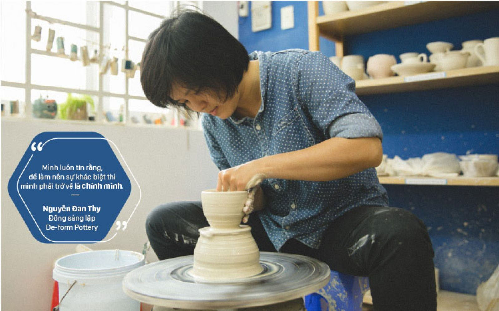 Nguyễn Đan Thy - đồng sáng lập De-form Pottery
