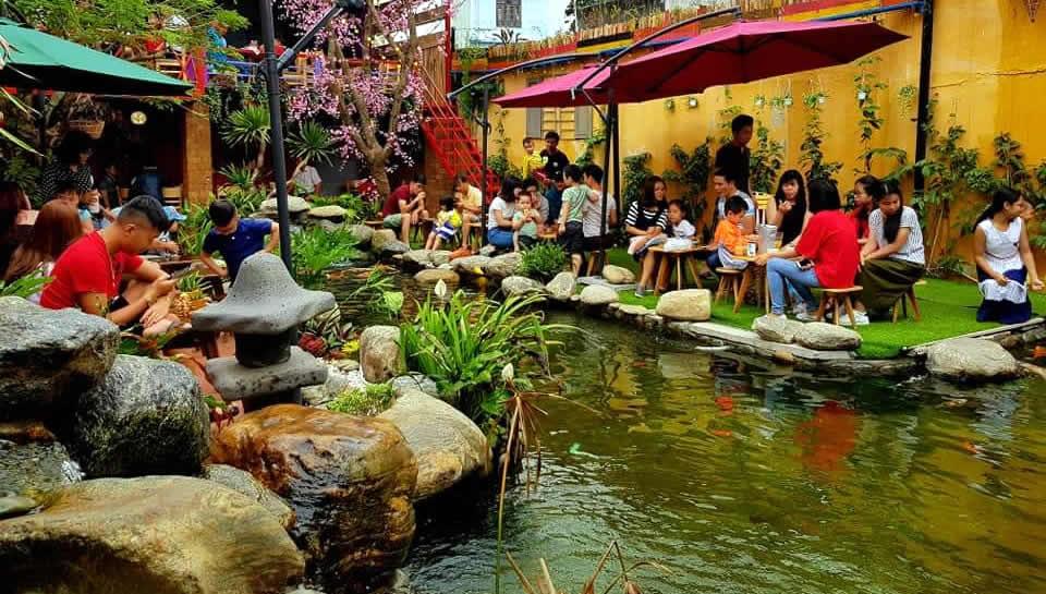 Một sản phẩm hồ cá, sân vườn ấn tượng do Phi thiết kế thi công.