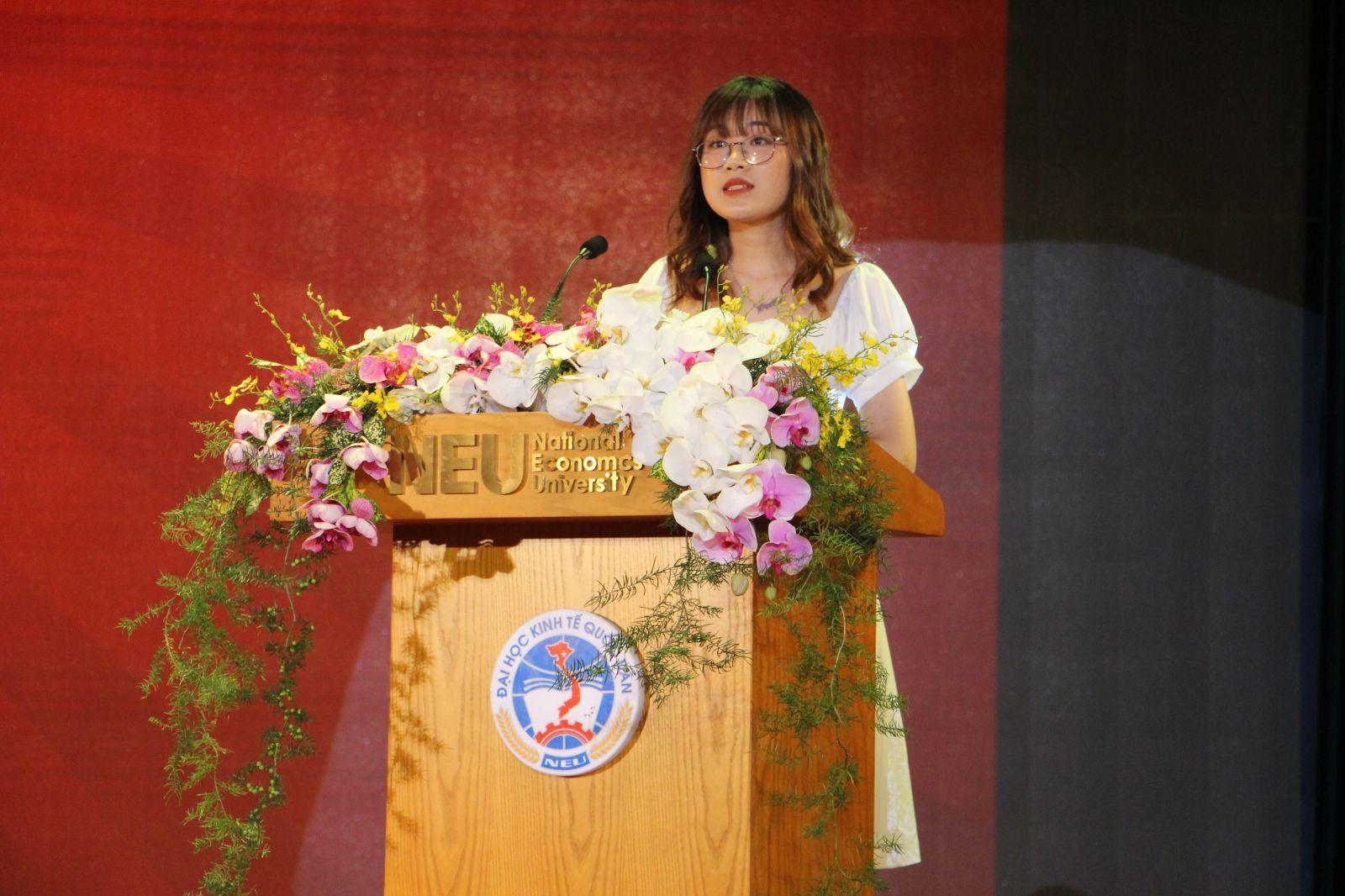 Bạn Vũ Thị Kim Huế - Trưởng Ban Tổ chức