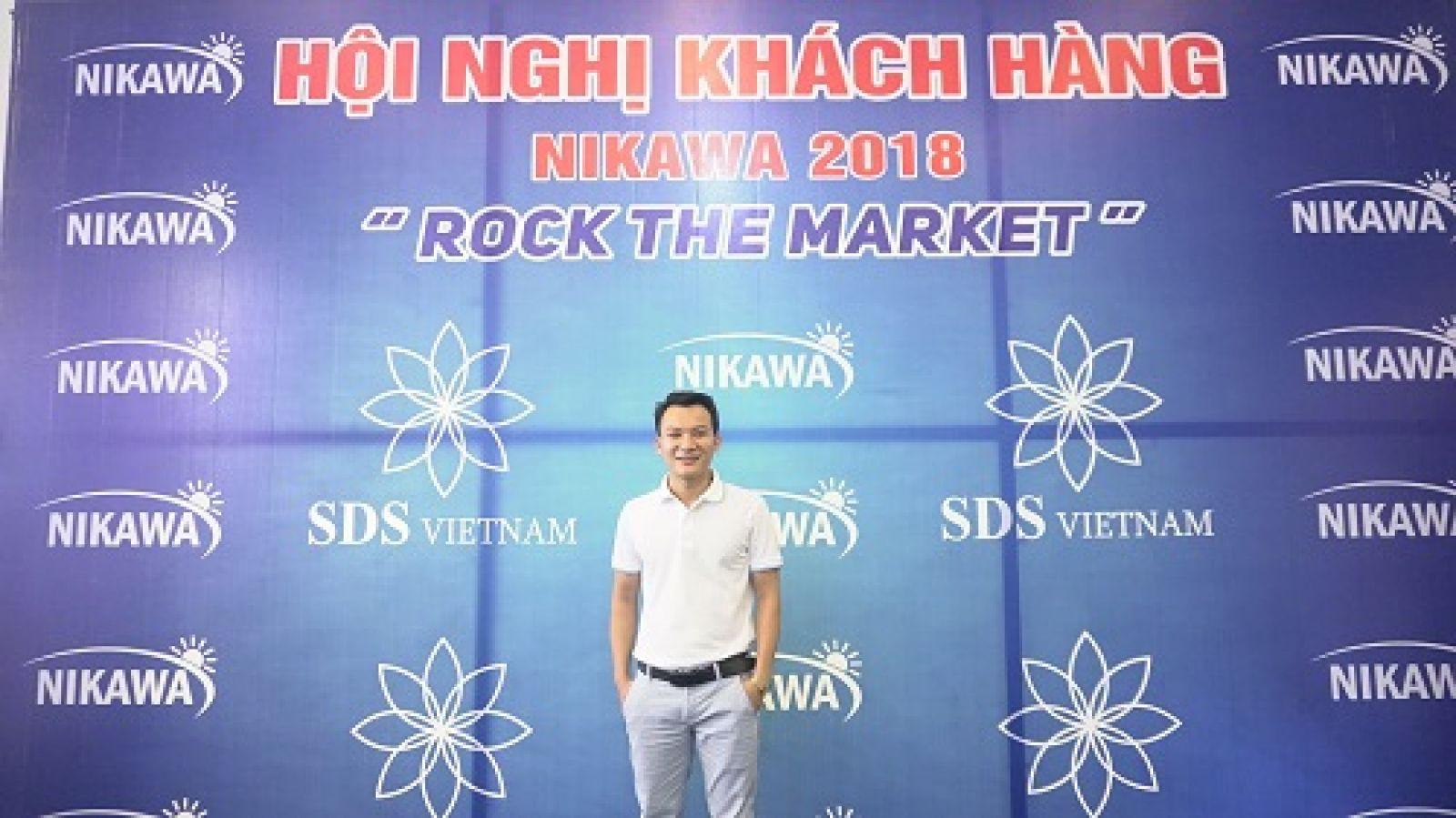 Đồng sáng lập Nguyễn Trường Phi tại Hội nghị khách hàng Nikawa Việt Nam 2018