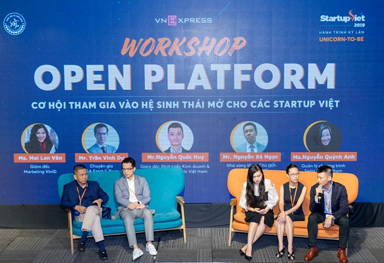 Hội thảo Hệ sinh thái mở từ các ứng dụng triệu đô với sự tham gia của hơn 100 startup Việt do báo VnExpress tổ chức. Ảnh: Trần Quỳnh.