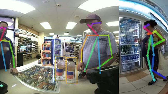 Hình ảnh thu được từ camera của robot Accel giúp phân tích hành vi của khách hàng.