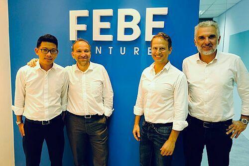 Ba nhà đồng sáng lập theo thứ tự từ phải sang:Jean-Marc Merlin, Olivier Raussin và Eric. Ảnh: Instagram FEBE