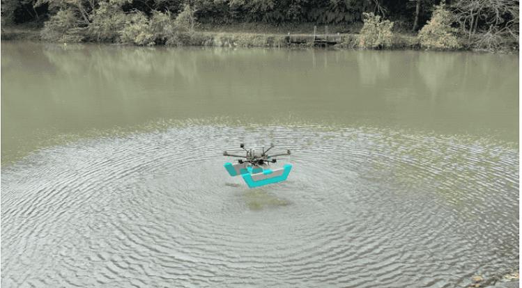 Máy bay không người lái có thể lặn dưới nước để đo đạc. Ảnh: Techcrunch.