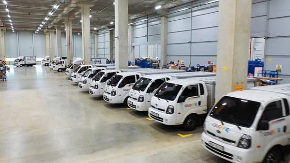 Một trong những trung tâm giao nhận hàng củaCoupang tại Hàn Quốc.