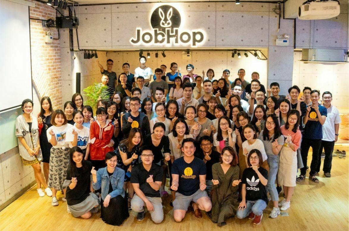 Đội ngũ nhân sự của JobHopin.