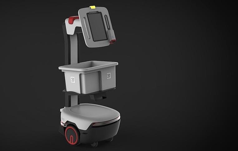 Startup Syrius Robotics phát triển robot vận chuyển hàng hóa trong kho.
