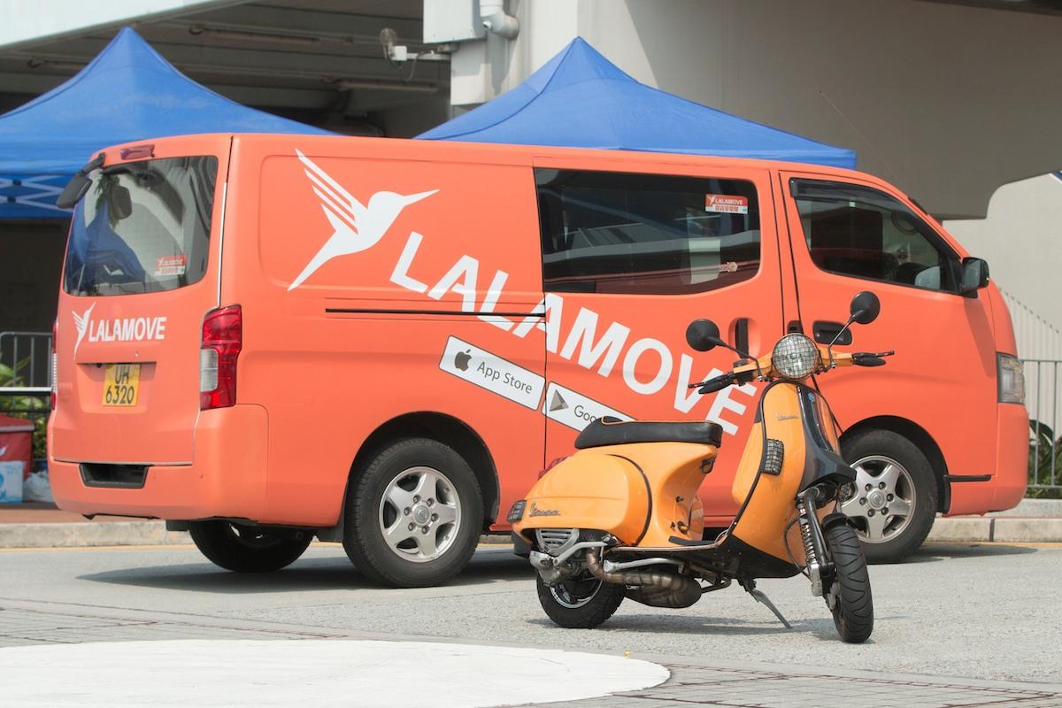 Một chuyến giao hàng của Lalamove. Ảnh: TechInAsia.