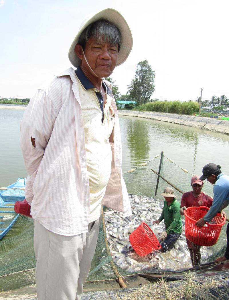 Sóc Trăng: Một tỷ phú nông dân nuôi cá rô phi toàn con đực, bắt bán 235 tấn, lời 1,6 tỷ đồng - Ảnh 1.